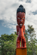 Traditional New Zealand Maori Wood Carving
