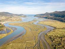 Aerial View Of Urdaibai Marshland In Basque Country