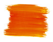 A fragment of the flame orange color background painted with watercolors