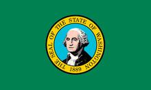 Washington USA State Flag