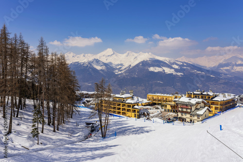 Winter in the Alps mountains, Italy Fototapet