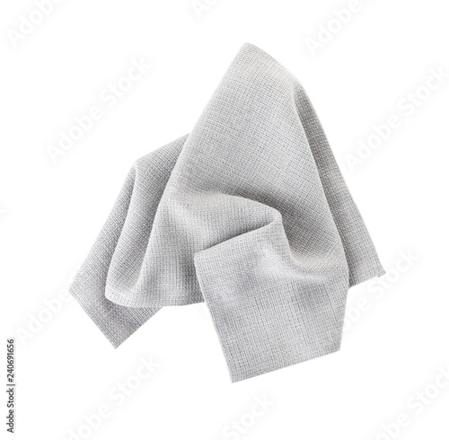 Fototapeta Fabric napkin for table setting on white background