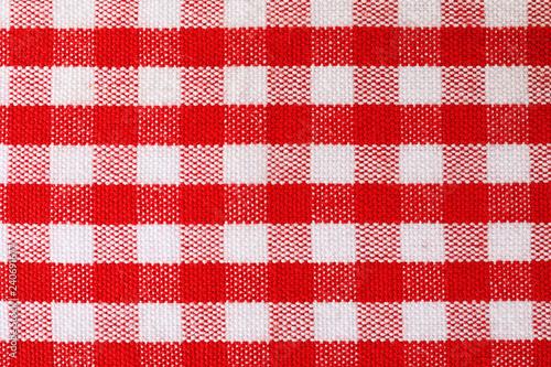 Aluminium Prints Picnic Texture of textile table napkin, closeup view