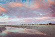 Colourful sunset landscape in Northern Shore of Walaroo South Australian Coastal town in Yorke Peninsula