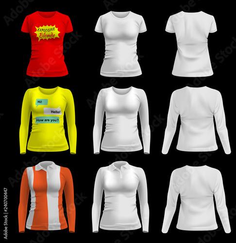 Women s T-shirt. Template 5575393b7