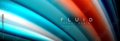 Fotografie, Obraz Fluid wave line background or pattern