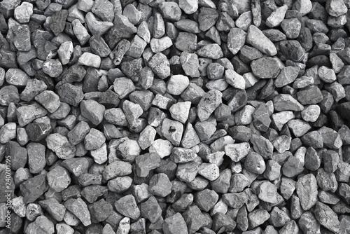 In de dag Stenen Gravel stone , pebble stone use in construction, rocks background