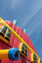 A Giant Colorful Inflatable Sl...