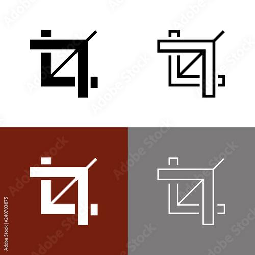 Fotografie, Obraz  Crop Tool Icon Set
