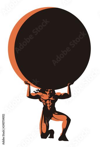 Fotomural atlas titan holding the globe