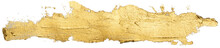 Long Golden Smear Oil Paint Sp...