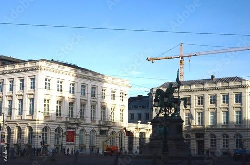 Leinwand Poster Place Royale (Bruxelles- Belgique)