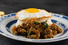 Kam Heong Stir Fry Chicken Rice , Malaysian Dish