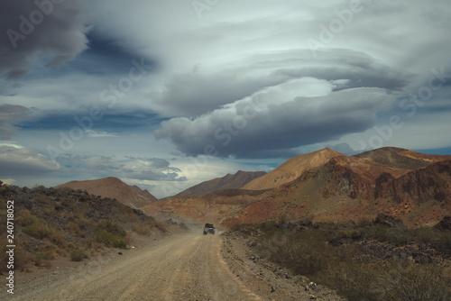 Fotografía  Lenticular clouds over the mountains South America