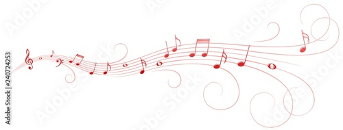 Symbol with music notes.  - 240724253