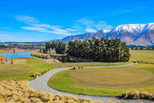 Golf Course In Canterbury, New Zealand