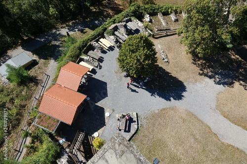 Fotografie, Obraz  Aussicht vom Treppenturm bei Löwenstein
