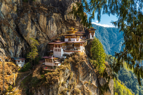 Fototapeta Tiger's nest Temple, Paro valley - Bhutan obraz