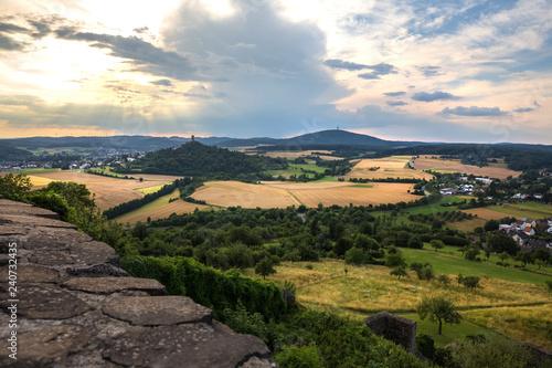 Foto auf Leinwand Toskana castle ruin vetzberg gleiberg near gießen hesse germany