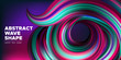 Art Brush Painted Abstract Wave Poster.