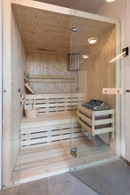Small Sauna Cabin In Bathroom ...