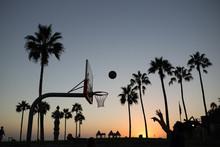 Basketball Match On Venice Bea...