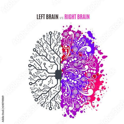 Obraz left and right brain concept - fototapety do salonu