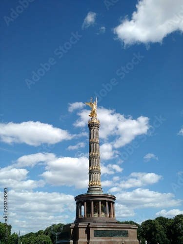 Fotografie, Obraz  Berlin's Victory Column, commemorating the victory of Prussia in the Danish-Prus