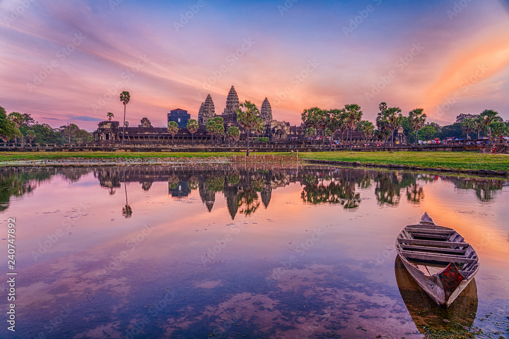 Fototapety, obrazy: HDR Image of Angkor Wat Temple, Siem Reap, Cambodia