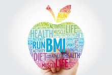 BMI - Body Mass Index, Apple Word Cloud Collage, Health Concept Background
