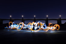 Long Exposure Light Painted Imagery With Color