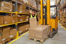 Order Picker Holding Box Forkl...