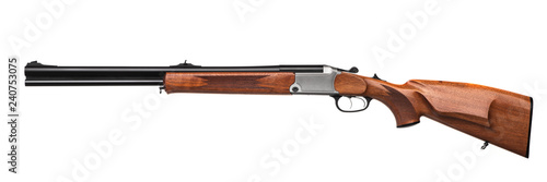 Cuadros en Lienzo  Classic hunting rifle isolated on white background