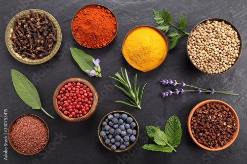Keuken foto achterwand Kruiden Spices and herbs.