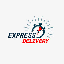 Express Delivery Icon. Timer A...