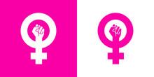 Icono Plano Símbolo Feminista...