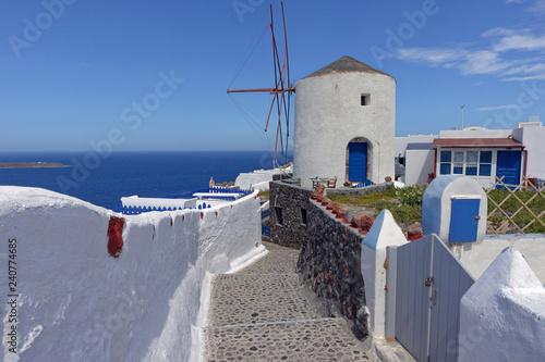 Fotografía  Moulin à vent, Oia, Ile de Santorin, Cyclades, Grèce