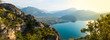 Panorama: Gardasee im Sommer