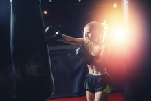 Girl Athlete Boxing MMA