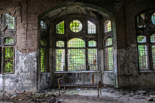 Canvas Prints Old Hospital Beelitz Ruins of Beelitz-Heilstätten Lost place Berlin Brandenburg;
