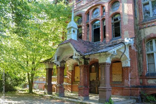 Recess Fitting Old Hospital Beelitz Ruins of Beelitz-Heilstätten Lost place Berlin Brandenburg;