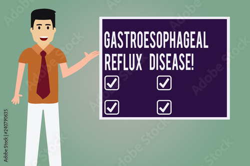 Fotografía  Word writing text Gastroesophageal Reflux Disease