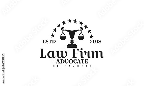 law firm logo template-vector - Buy this stock vector and explore