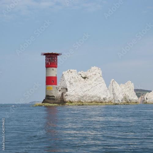 Obraz na płótnie The Lighthouse at the Needles, Isle of Wight, England