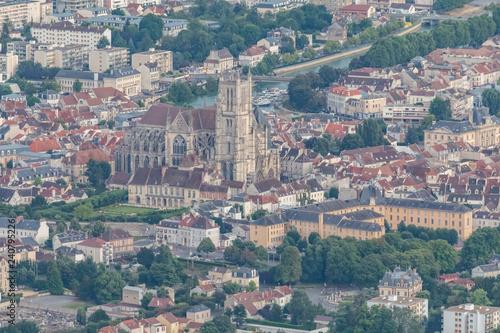 ville de Meaux vue aérienne Slika na platnu