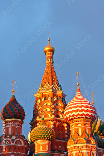 Spoed Foto op Canvas Aziatische Plekken Cupola of Saint Basil's cathedral, Moscow, Russia