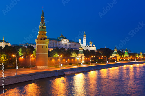 Платно  Moscow kremlin at night