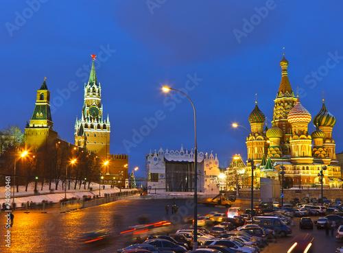 Foto op Aluminium Aziatische Plekken Red Square at night, Moscow, Russia