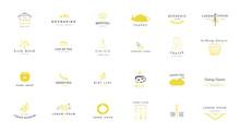 Kitchen Logo Templates Set. Ve...