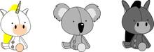 Cute Baby Plush Animals Cartoo...